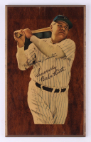 Babe Ruth New York Yankees 9.5x15.5 Wooden Plaque Display with Hand-Written Personalization (PSA LOA) at PristineAuction.com