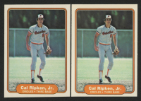 Lot of (2) 1982 Fleer #176 Cal Ripken RC