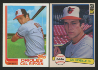 Lot of (2) Cal Ripken Baseball Cards with 1982 Donruss #405 RC & 1982 Topps Traded #98T