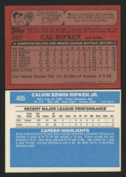 Lot of (2) Cal Ripken Baseball Cards with 1982 Donruss #405 RC & 1982 Topps Traded #98T at PristineAuction.com