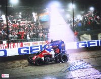 Christopher Bell Signed 2019 Chili Bowl 11x14 Photo - 3rd Straight Chili Bowl Win (PA COA) at PristineAuction.com