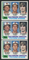 Lot of (3) 1982 Topps #21 Bob Bonner RC / Cal Ripken RC / Jeff Schneider RC
