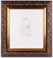 "Stanley Mouse Signed 28x31.25 Custom Framed Sketch Inscribed ""2004"" & ""Red Rocks"" (Beckett LOA) at PristineAuction.com"