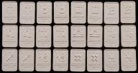 Lot of (24) Zodiac Sign 1 Gram .999 Fine Silver Bullion Bar