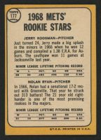 1968 Topps #177 Rookie Stars / Jerry Koosman RC / Nolan Ryan RC at PristineAuction.com
