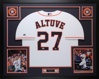 Jose Altuve Signed 35x43 Custom Framed Jersey (Fanatics Hologram) at PristineAuction.com