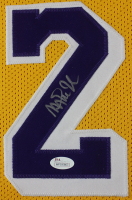 Magic Johnson Signed 35x43 Custom Framed Jersey (JSA COA) at PristineAuction.com