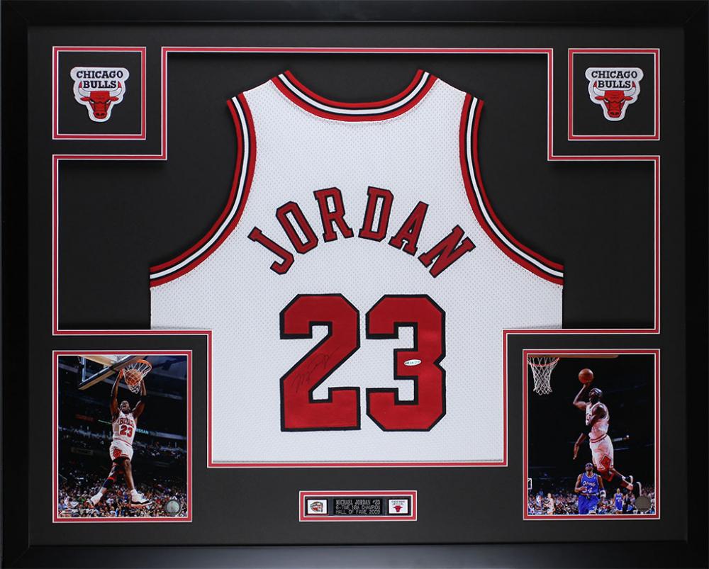 michael jordan framed jersey