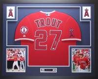Mike Trout Signed 35x43 Custom Framed Jersey (MLB Hologram) at PristineAuction.com