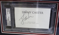 Jimmy Carter Signed 20x27 Custom Framed Cut Display (PSA Encapsulated) at PristineAuction.com