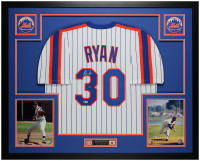 Nolan Ryan Signed 35x43 Custom Framed Jersey (Beckett COA) at PristineAuction.com