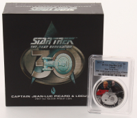2017-P Star Trek TNG 30th Anniversary - First Day of Issue $1 Tuvalu One Dollar Colorized Coin with Display (PCGS PR69DCAM)