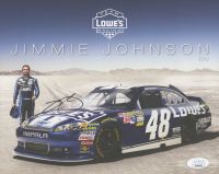 Jimmie Johnson Signed 8x10 Photo Card (JSA COA)