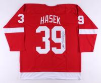 "Dominik Hasek Signed Jersey Inscribed ""HOF 14"" (JSA COA)"