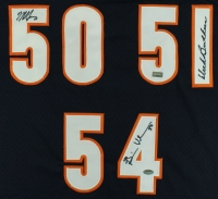 "Brian Urlacher, Mike Singletary, & Dick Butkus Signed ""Monsters of the Middle"" Bears Jersey at PristineAuction.com"