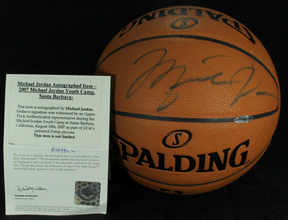 1ab8060030b Michael Jordan Signed NBA Game Ball (UDA COA) at PristineAuction.com