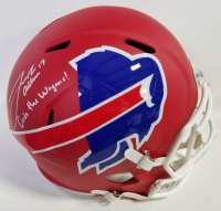 "Josh Allen Signed Buffalo Bills Full-Size AMP Alternate Speed Helmet Inscribed ""Circle The Wagons!"" (Beckett COA) at PristineAuction.com"