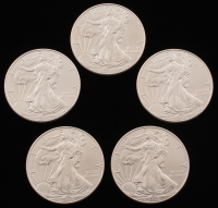 Lot if (5) 2015 $1 American Eagle Silver Dollar Coin
