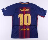 "Lionel Messi Signed FC Barcelona Jersey Inscribed ""Leo"" (Beckett COA)"