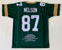 Jordy Nelson Signed Career Highlight Stat Jersey (JSA COA) at PristineAuction.com