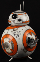 "Brian Herring Signed Disney ""Star Wars: The Force Awakens"" Big-Figs Deluxe 18"" Custom Hand-Painted BB-8 Figure Inscribed ""Keep Rolling"" & ""BB-8"" with Hand-Drawn BB-8 Sketch - 1/1 (PA COA) at PristineAuction.com"