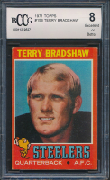 1971 Topps #156 Terry Bradshaw RC (BCCG 8) at PristineAuction.com