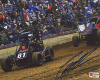 Christopher Bell Signed 2018 Duquoin Tucker Boat Motorsports PristineAuction.com Midget 8x10 Photo (PA COA) at PristineAuction.com