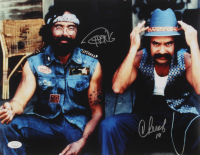 """Cheech Marin & Tommy Chong Signed """"Up In Smoke"""" 11x14 Photo Inscribed """"19"""" (JSA Hologram)"""