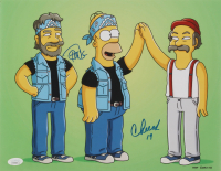 "Cheech Marin & Tommy Chong Signed ""The Simpsons"" 11x14 Photo Inscribed ""19"" (JSA Hologram) at PristineAuction.com"
