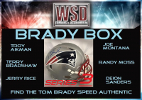 "WSD ""Brady Box"" Mystery Full-Size Helmet Box - Autographed Football Hemet Series (Find the Tom Brady Speed Authentic!)"
