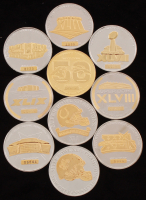 Lot of (10) LE Super Bowl Bullion Rounds at PristineAuction.com