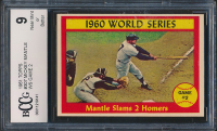 1961 Topps #307 World Series Game 2 / Mickey Mantle (BCCG 9) at PristineAuction.com
