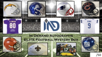 In Demand Autographs ELITE Football Mystery Box - 6 Items Per Box