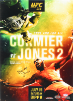 "Jon ""Bones"" Jones Signed UFC 214 Fight Poster vs. Cormier 16x22 Photo (PSA COA)"