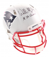 """Willie McGinest Signed New England Patriots Full-Size Authentic On-Field Speed Helmet Inscribed """"3X SB Champ"""" (JSA COA)"""