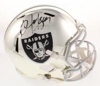 Bo Jackson Signed Oakland Raiders Full-Size Chrome Speed Helmet (Beckett COA)