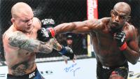 """Jon """"Bones"""" Jones Signed UFC 235 vs. Anthony Smith 16x28 Photo (PSA COA)"""