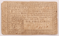1777 6s. Six-Shillings Pennsylvania Colonial Currency Note