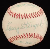 1970s New York Mets ML Baseball Team Signed by (9) with Casey Stengel, Tom Seaver, Ed Kranepool, Ron Hodges, Al Weiss (JSA ALOA)