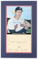 Ted Williams Signed LE Boston Red Sox 14x22 Custom Matted Print Display with Career Stat Card (Beckett LOA) at PristineAuction.com