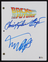 "Christopher Lloyd & Michael J. Fox Signed ""Back to the Future"" Movie Script (Beckett COA)"