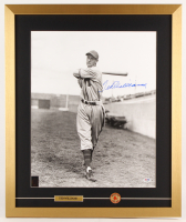 Ted Williams Signed Boston Red Sox 21x25 Custom Framed Photo Display with Red Sox Pin (PSA LOA & Williams Hologram) at PristineAuction.com