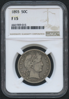 1893 50¢ Barber Half Dollar (NGC F 15) at PristineAuction.com