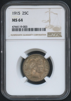 1915 25¢ Barber Quarter (NGC MS 64) at PristineAuction.com