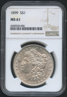 1899 $1 Morgan Silver Dollar (NGC MS 61) at PristineAuction.com