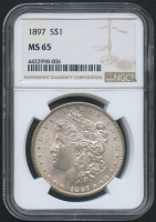 1897 $1 Morgan Silver Dollar (NGC MS 65) at PristineAuction.com