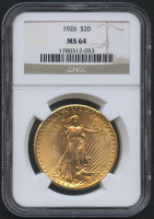 1926 $20 Saint-Gaudens Double Eagle Gold Coin (NGC MS 64)