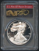 2019-S American Eagle Silver $1 Coin - First Day of Issue - Signed by U.S. Mint AIP Master Designer Thomas S. Cleveland (PCGS PR 70 DCAM)