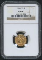 1903 $2.50 Liberty Head Quarter Eagle Gold Coin (NGC AU 58) at PristineAuction.com