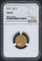 1911 $2.50 Indian Quarter Eagle Gold Coin (NGC AU 55)